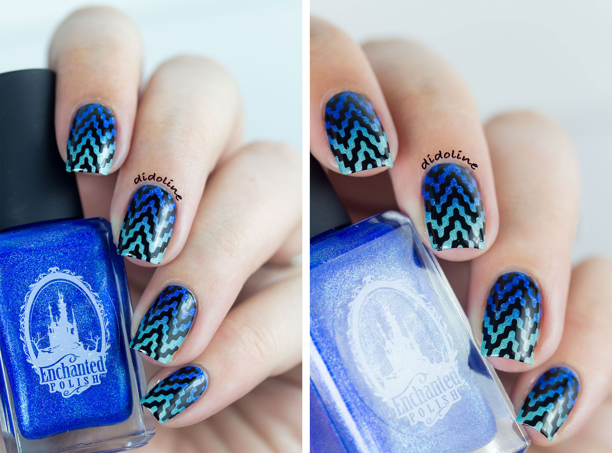 Enchanted Polish - Gradient nails and stamping with MoYou London