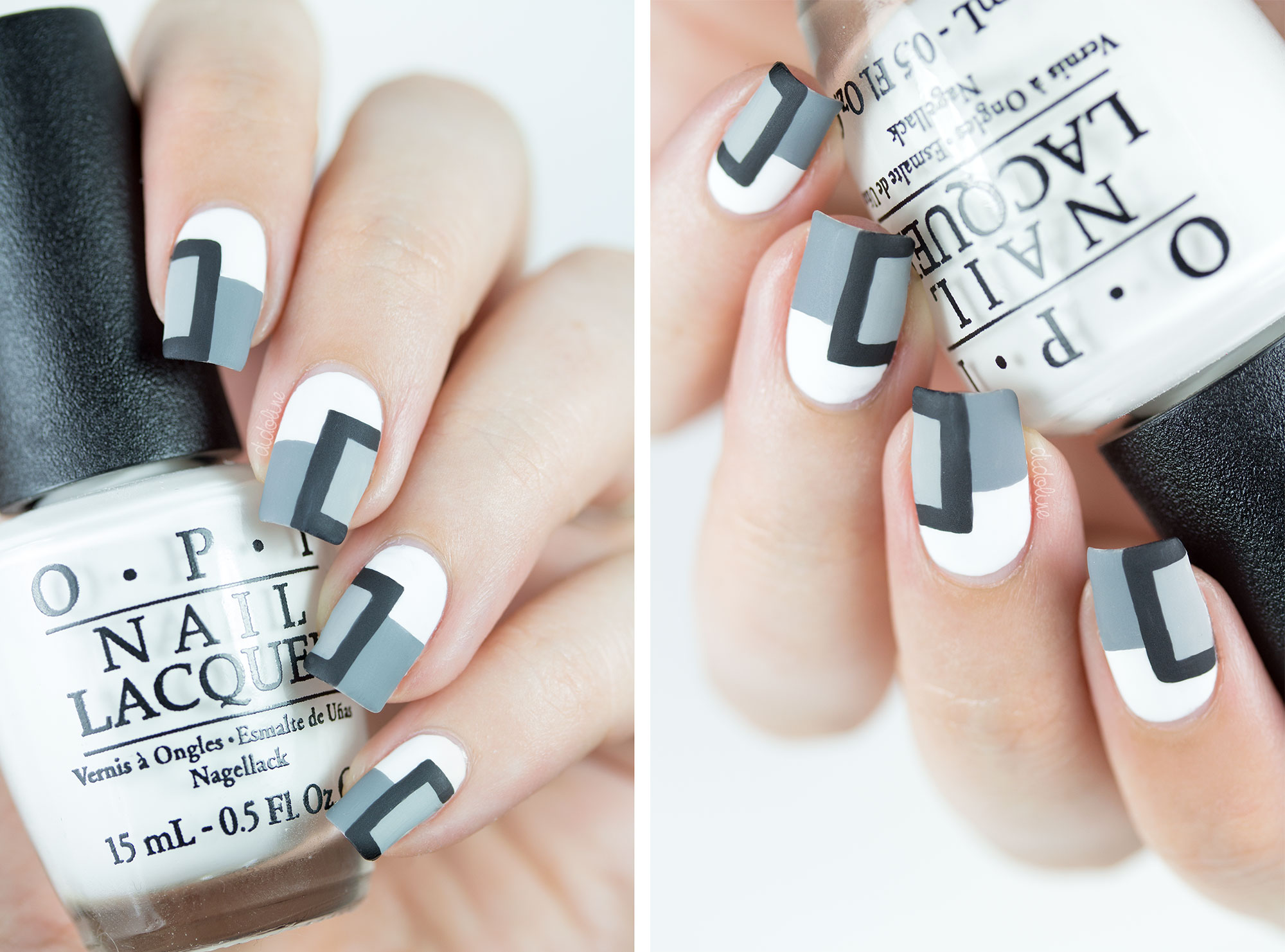 Monochrome Nail Art