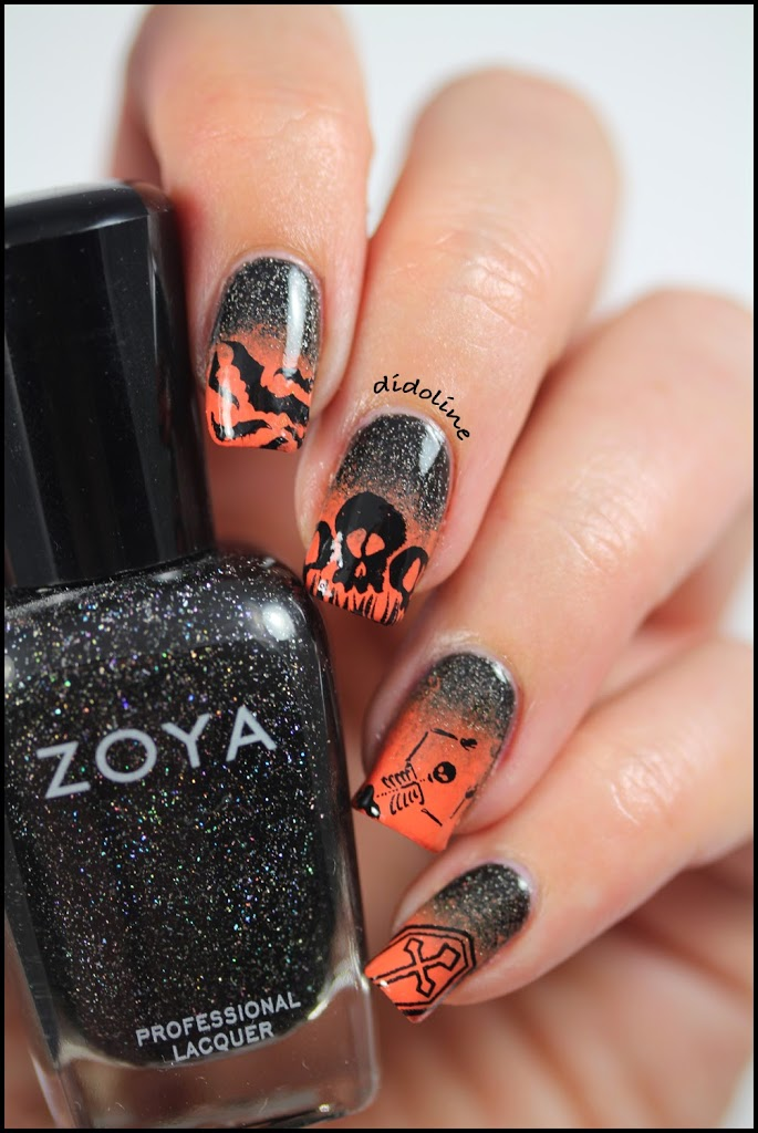les ongles infernaux halloween nails. Black Bedroom Furniture Sets. Home Design Ideas