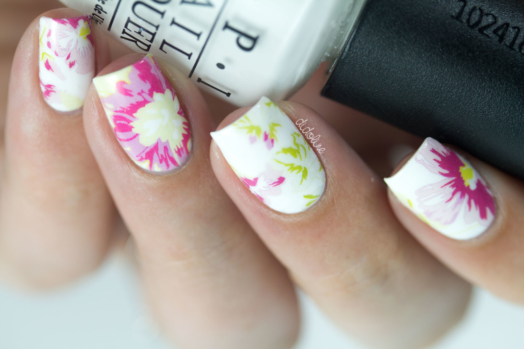 Nail Art Fleuri - Water Decals - Born Pretty Store - XF 1414