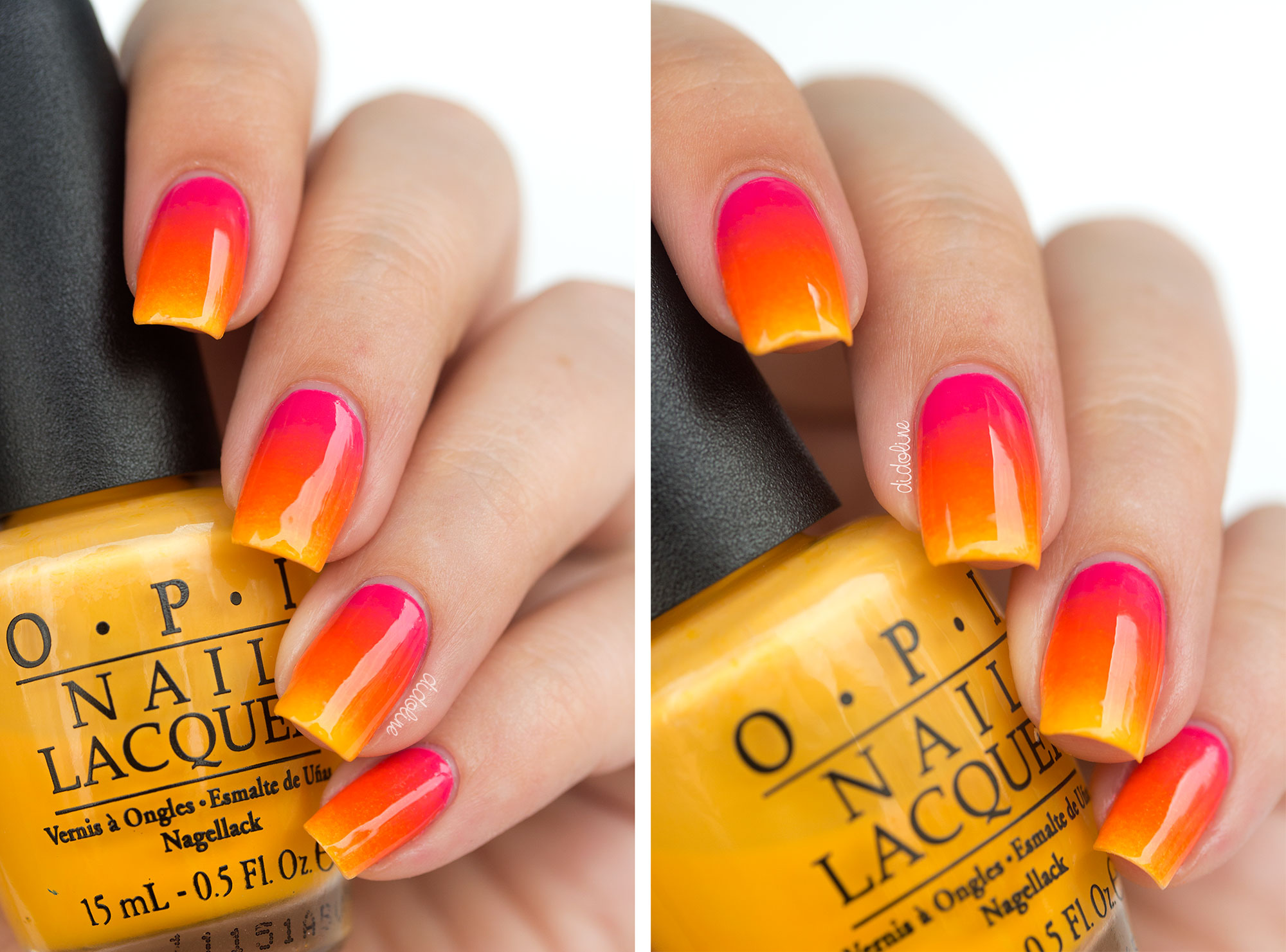 Summer Nails - Summer Gradient with OPI and Palm Trees with Topatopa !