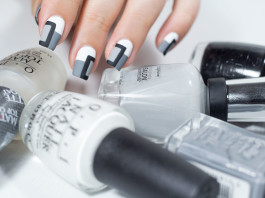 Nail art monochrome